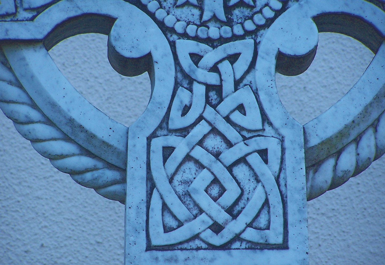 Blaues keltisches Kreuz