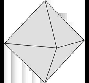 Graue Form: Oktaeder