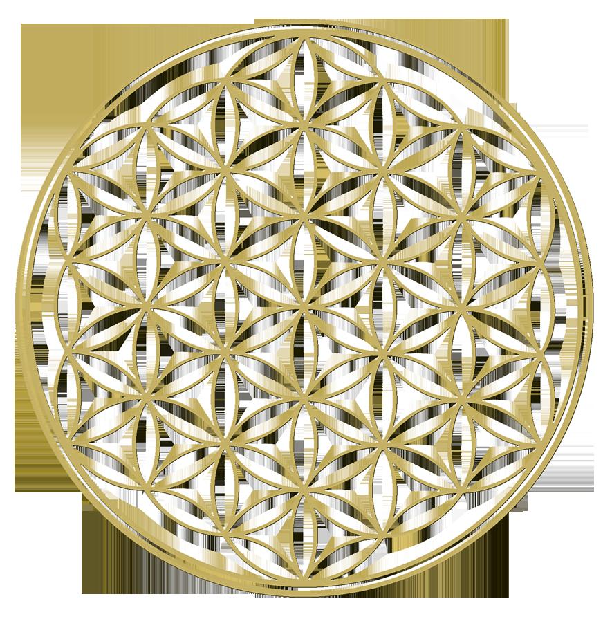 Goldenes Symbol der Blume des Lebens