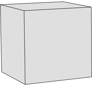 Graue Form: Hexaeder/Würfel