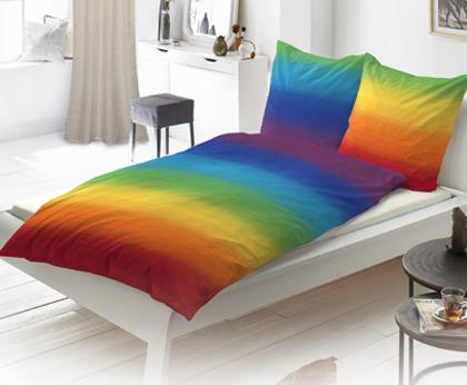 Produkt: Bettwäsche in Regenbogenfarben