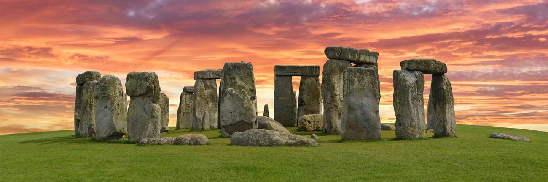 Steinkreis Stonehenge im Sonnenuntergang